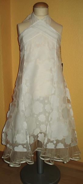 Monny kommunionskleid kleid neckholder ecru gr 146 neu