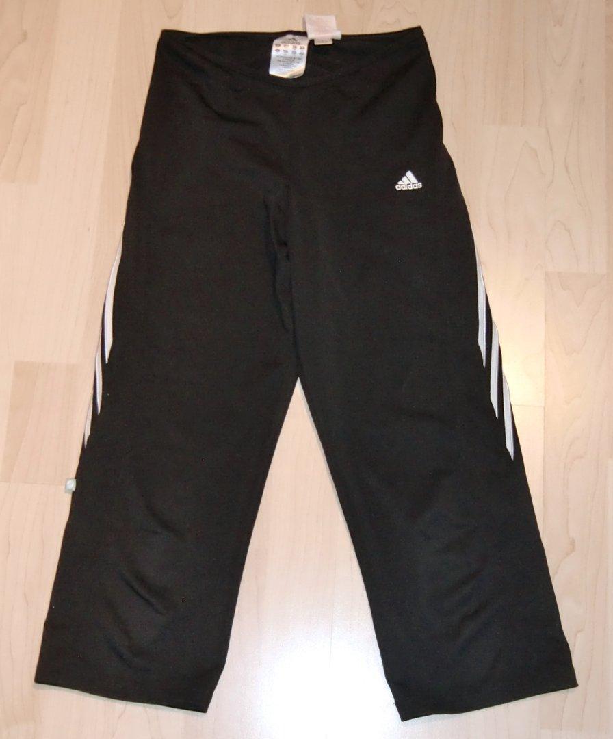 adidas 3 4 capri leggings in schwarz gr 152 das wolkenboot. Black Bedroom Furniture Sets. Home Design Ideas