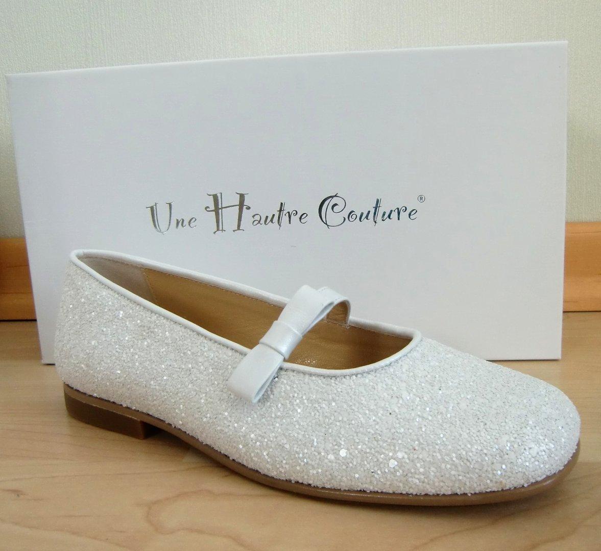 sneakers for cheap 60f3d eb116 Une Hautre Couture Kommunionschuhe Glitter White