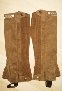 Scan Horse Chaps Cambridge in Braun Gr XS