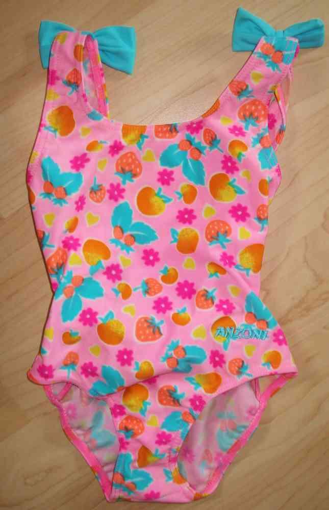 neueste auswahl gut stylistisches Aussehen anzoni Badeanzug in Rosa Pink mit Schleifen Gr. 80 / 86