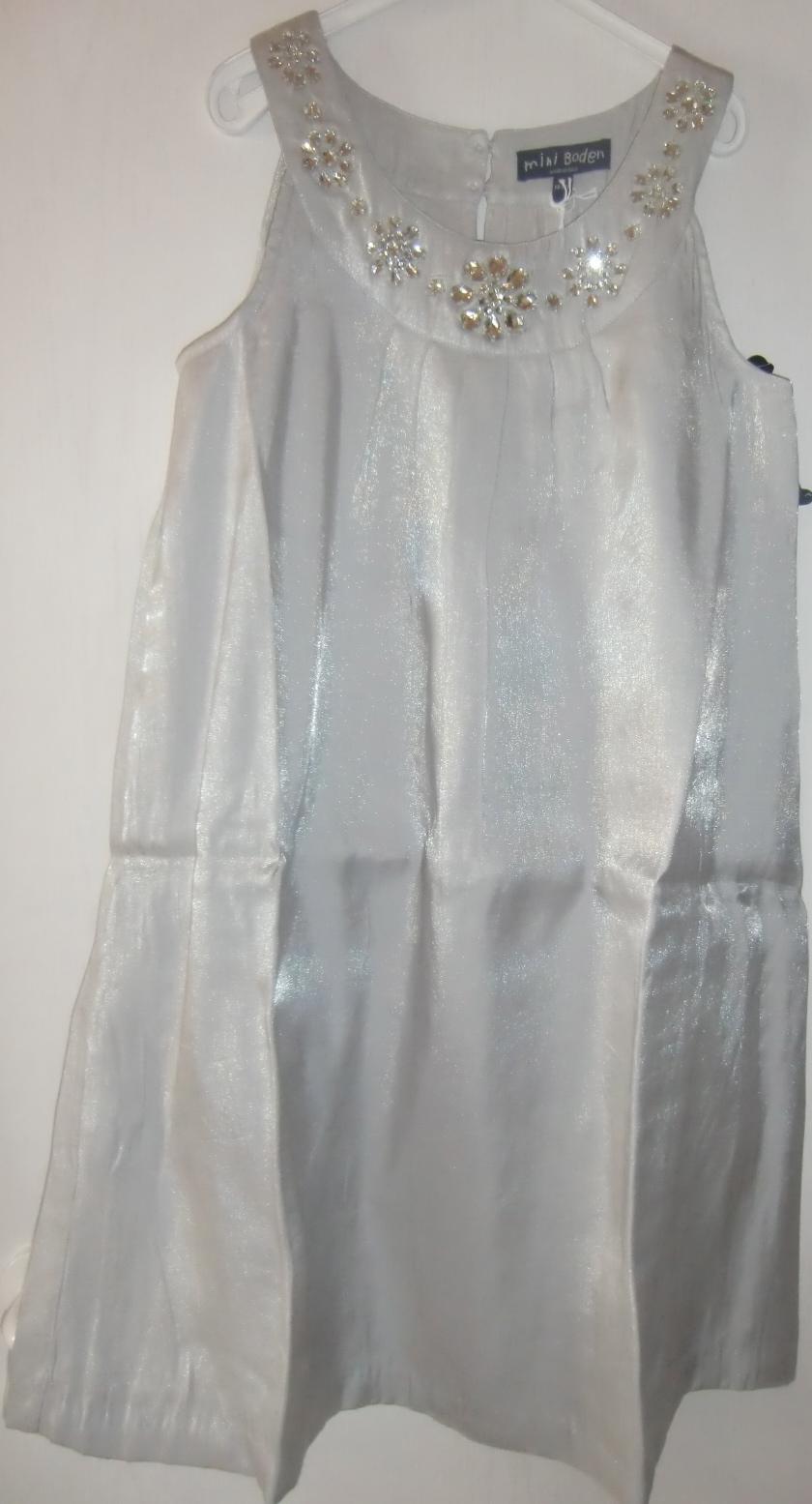 mini boden partykleid festliches kleid in grau mit glitzersteinen gr 13 14 yrs ca 158 164. Black Bedroom Furniture Sets. Home Design Ideas
