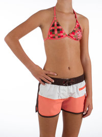 Protest DANCE JR Girls Beach Shorts Earth Brown