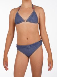 Protest KAZU JR Triangle Bikini Denim Light NEU