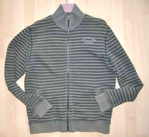 Tom Tailor Urban Casuals Sweatjacke in Grau Gr M