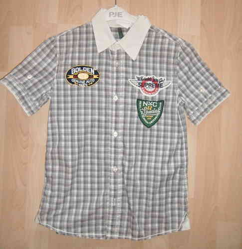 UCB Benetton KA Hemd mit  Patches Gr. L 8-9