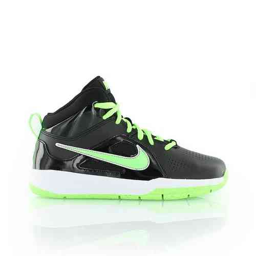 Nike Team Hustle D6 kids Basketballschuhe Lemon