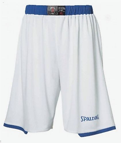 Spalding Assist Basketball Shorts Weiss Blau