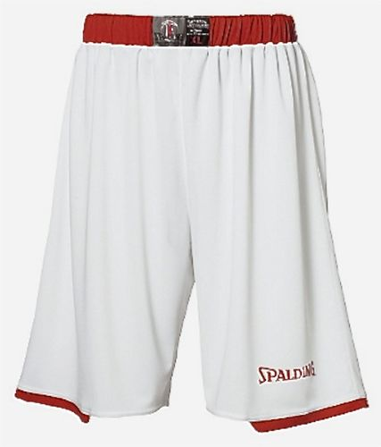 Spalding Assist Basketball Shorts Weiss Rot