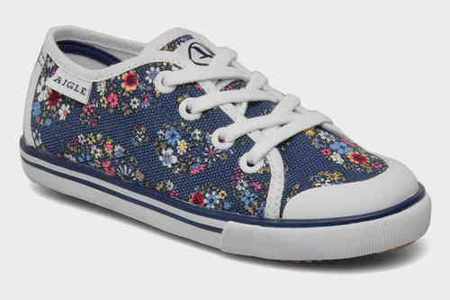 AIGLE LIBERTY Canvas Schuhe Sneakers Borizo Navy