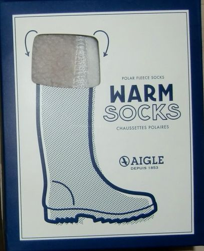 AIGLE Warm Socks Sockwarm Polarfleece Natural