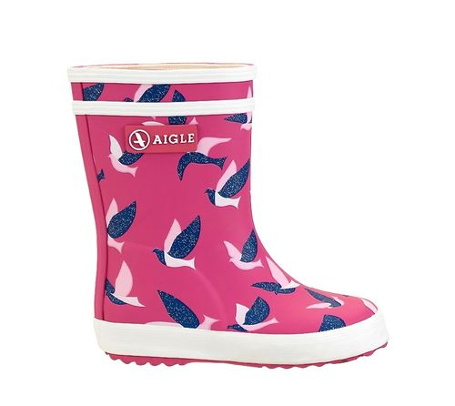 Aigle Gummistiefel Baby Flac Glitter New Rose