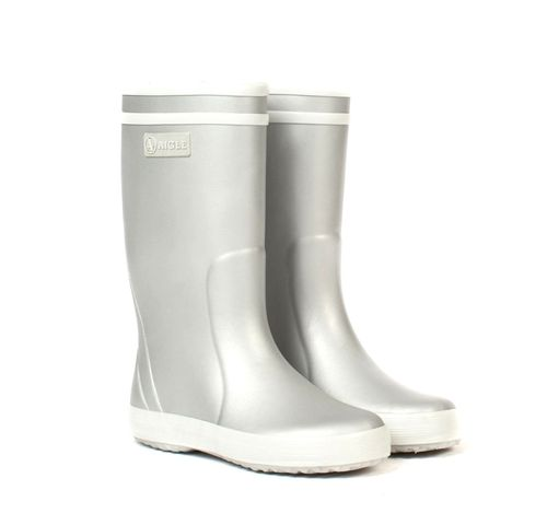 Aigle Kinder Gummistiefel Lolly Pop in Silber