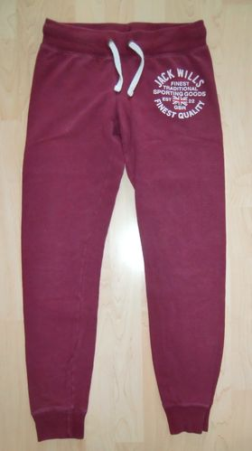 Jack Wills Jogginghose Bordeaux Gr UK 8 US 4