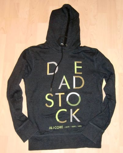 Jack & Jones Sweat Core Hoodie BOOM Blau Gr S