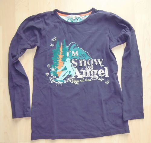 fat face LA Shirt Lila Snow Angel 12-13yrs